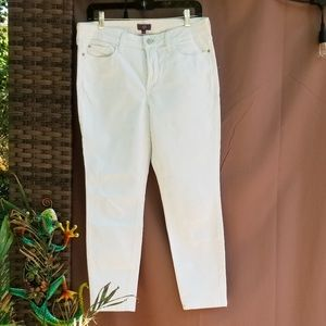NYDJ White Ankle Jeans Lift Technology